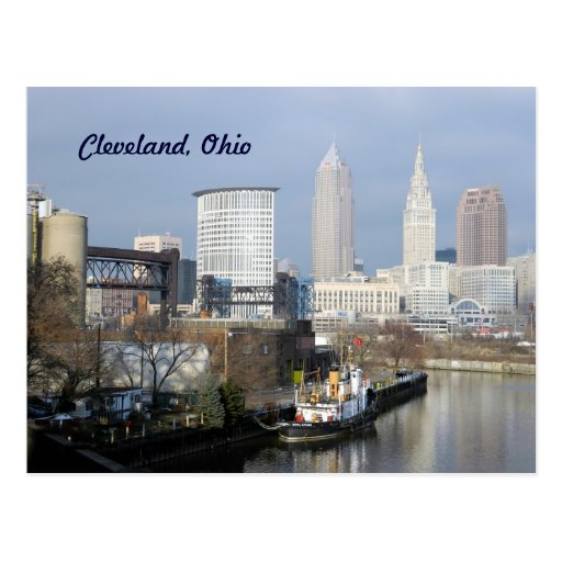 Cleveland,Ohio River View Postcard