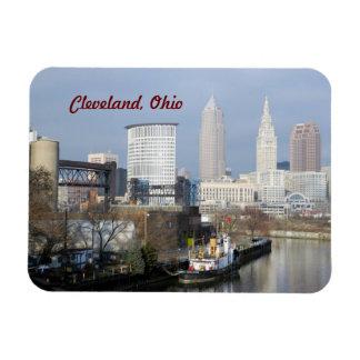 Cleveland Ohio (River View)Premium Flexi Magnet