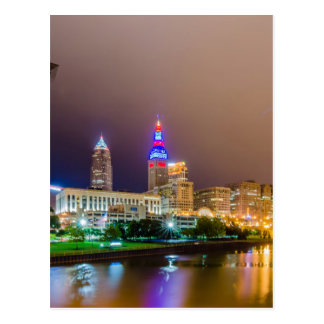 cleveland ohio sity skyline of downtown postcard