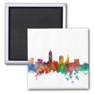 Cleveland Ohio Skyline 2 Inch Square Magnet