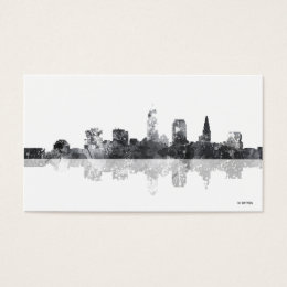 Cleveland skyline business cards templates zazzle cleveland ohio skyline business card colourmoves Image collections
