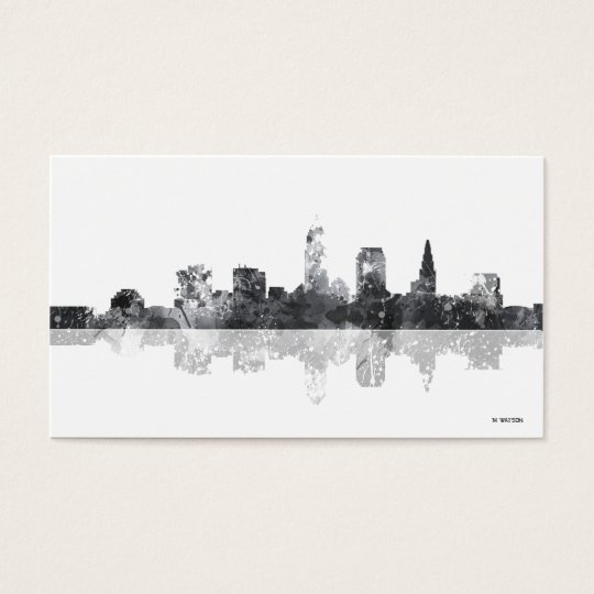 Cleveland Ohio Skyline Business Card Zazzle Com