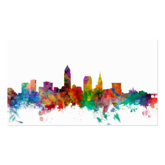 Cleveland Ohio Skyline Double-Sided Standard Business Cards (Pack Of 100)
