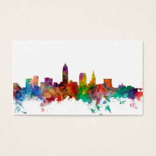 Cleveland skyline business cards templates zazzle cleveland ohio skyline business card colourmoves