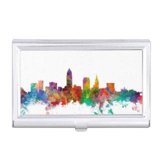 Cleveland Ohio Skyline Business Card Holder