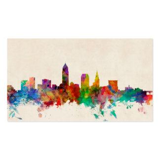 Cleveland Ohio Skyline Cityscape Double-Sided Standard Business Cards (Pack Of 100)