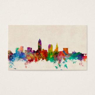 Cleveland Ohio Skyline Cityscape Business Card