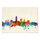 Cleveland Ohio Skyline Cityscape 5x7 Paper Invitation Card