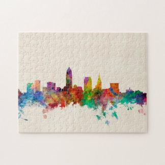Cleveland Ohio Skyline Cityscape Jigsaw Puzzles