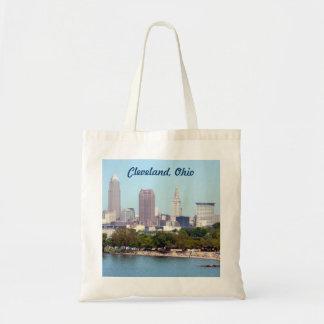 Cleveland Ohio Skyline (Edgewater) View Tote Bag