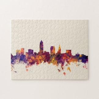 Cleveland Ohio Skyline Jigsaw Puzzle