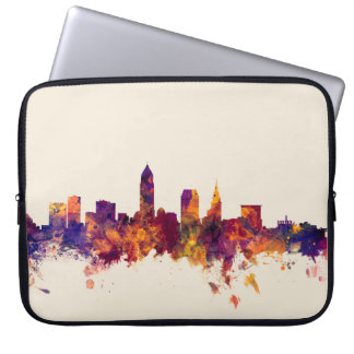 Cleveland Ohio Skyline Laptop Computer Sleeves