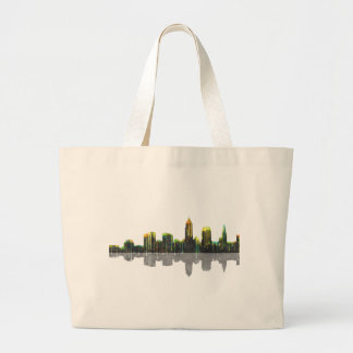 Cleveland Ohio Skyline Large Tote Bag
