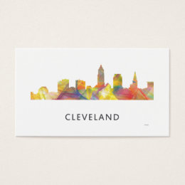 Cleveland skyline business cards templates zazzle cleveland ohio skyline wb1 business card colourmoves Image collections