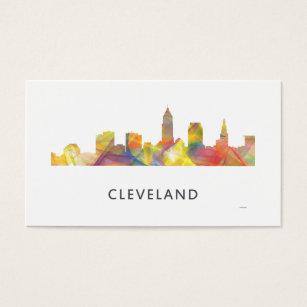 Cleveland skyline business cards templates zazzle cleveland ohio skyline wb1 business card colourmoves