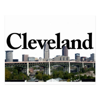 Cleveland Ohio Skyline with Cleveland in the Sky Postcard