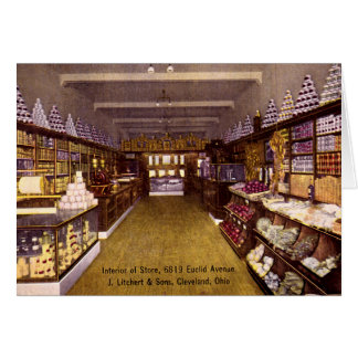 Cleveland Ohio Store Interior, Euclid Avenue Greeting Card