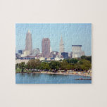 """Cleveland, Ohio Summer Skyline Puzzle<br><div class=""""desc"""">Cleveland,  Ohio shines in the summer sun,  at Edgewater Park. Classic Cleveland skyline is featured on 110 piece puzzle- great gift for fans of the North Coast !</div>"""