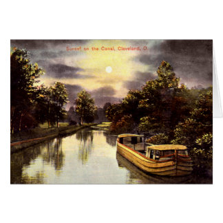 Cleveland Ohio Sunset on the Canal Greeting Card