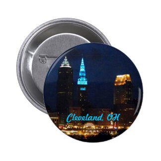 Cleveland, Ohio Terminal Tower Blue Button
