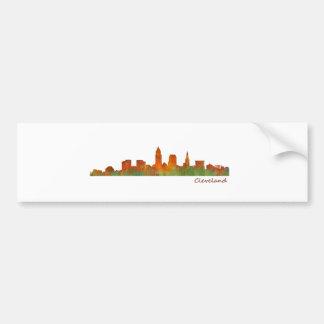 Cleveland Ohio the USA Skyline City v01 Bumper Sticker