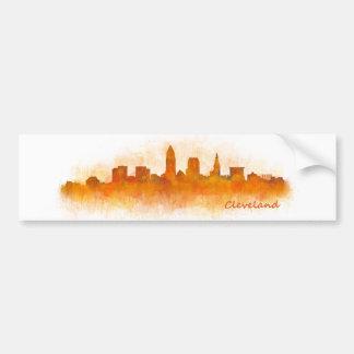 Cleveland Ohio the USA Skyline City v03 Bumper Sticker