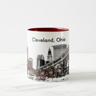Cleveland, Ohio Two-Tone Coffee Mug