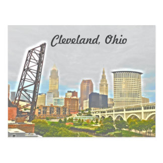 Cleveland Ohio West Bank View Postcard