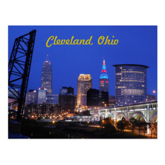 Cleveland, Ohio West Side Skyline Postcard