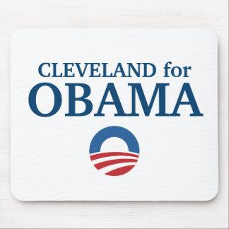 CLEVELAND para el personalizado de Obama su ciudad Alfombrilla De Ratón