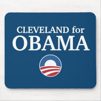 CLEVELAND para el personalizado de Obama su ciudad Alfombrillas De Raton
