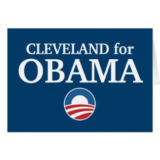 CLEVELAND para el personalizado de Obama su ciudad Tarjetas