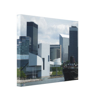 CLEVELAND ROCK AND ROLL HALL canvas Canvas Prints