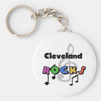 Cleveland Rocks Basic Round Button Keychain