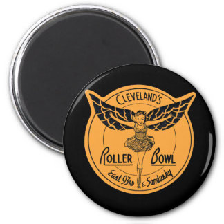 Cleveland Roller Bowl 2 Inch Round Magnet