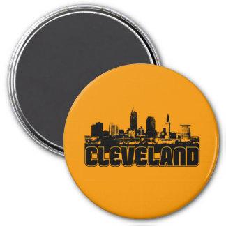 Cleveland Skyline 3 Inch Round Magnet