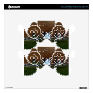 Cleveland Skyline at Night Decal For PS3 Controller