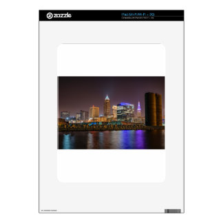 Cleveland Skyline at Night Decals For The iPad
