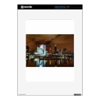 Cleveland Skyline at Night iPad Decals