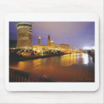 Cleveland Skyline at Night Mouse Pad