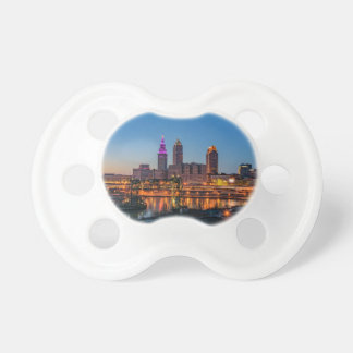 Cleveland Skyline at Sunset Pacifier