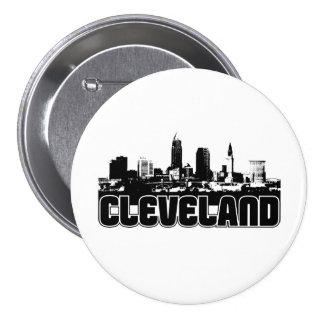 Cleveland Skyline 3 Inch Round Button
