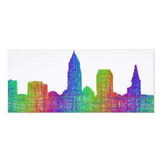 Cleveland skyline card