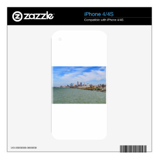 Cleveland Skyline Decals For iPhone 4S