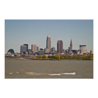 Cleveland Skyline in Spring II Poster