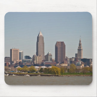 Cleveland Skyline in Spring Mouse Pad
