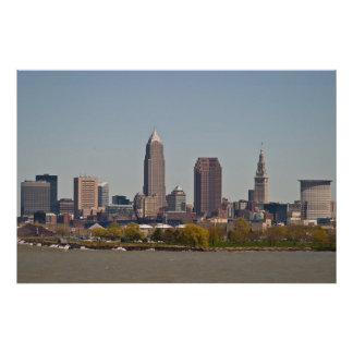 Cleveland Skyline in Spring Posters
