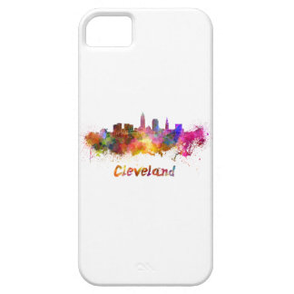 Cleveland skyline in watercolor iPhone SE/5/5s case