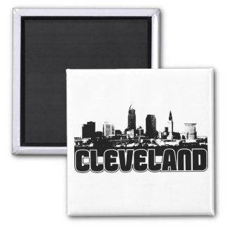 Cleveland Skyline 2 Inch Square Magnet