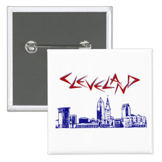 Cleveland Skyline Pinback Button